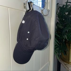 lululemon black striped cap hat womens